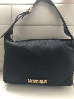 Authentic Moschino Nylon & Leather Hobo Purse