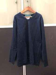 Pre loved navy blue cotton zara sweater size 7