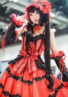 Date A Live Kurumi Tokisaki Cosplay Costume Gown