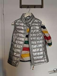 Hudson's Bay packable silver stripe vest