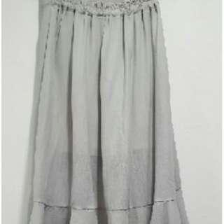 🚚 飄逸氣質灰魚尾裙 fish-tail skirt (gray)