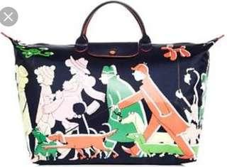 Longchamp x c loe floirat nylon weekender bag