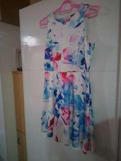 Floral Ink Dress Size L