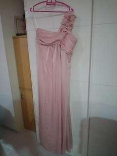 Ocassion Silky Pink Evening Gown Size 4