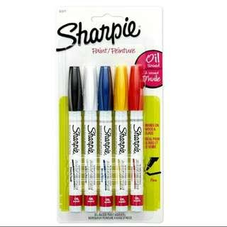 Out of stock: Sharpie Oil-based Fine Point Markers (5pcs Assorted)