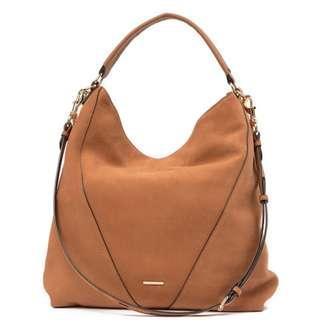PO Rebecca Minkoff Leather Moto Hobo Bag Handbag RRP345USD