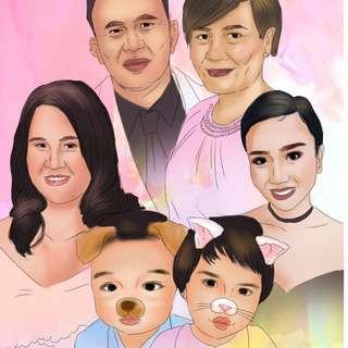 FAMILY PORTRAIT💙 Christmas ART COMMISSION