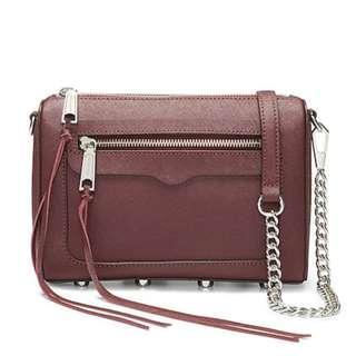PO Rebecca Minkoff Avery Nubuck Leather Crossbody Bag Handbag RRP195USD