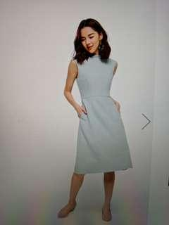 BNWT LB High Neck Midi Flare Dress