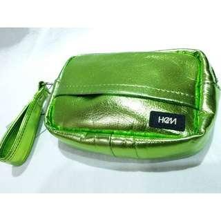 日本製♥HeM♥螢光綠時尚化妝包/萬用包