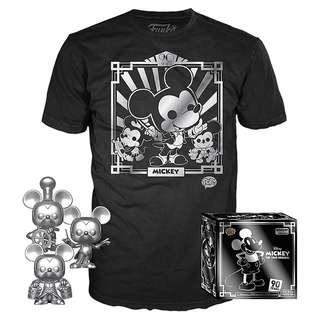🚚 Funko Pop Silver Mickey Mouse Box Amazon Exclusive 3 Pack Tee Bundle Vinyl Figure Collectible Toy Gift Disney Pixar