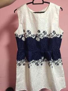 BN Blue-White Dress