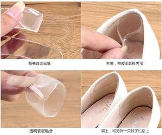 Silicone invisible heel sticker transparent anti-skid anti-wear shoes heel sticker