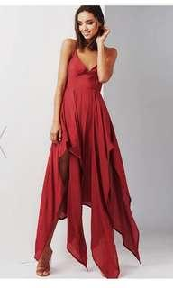 BN Popcherry Burgundy Dress XS prom cocktail wedding