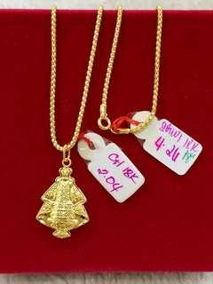 18k Necklace Saudi Gold