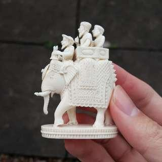 Indian Elephant Carving Figurine Statue