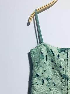 HVV Green Floral Top