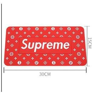 Supreme Car Anti Slip Mat (Red - Large)