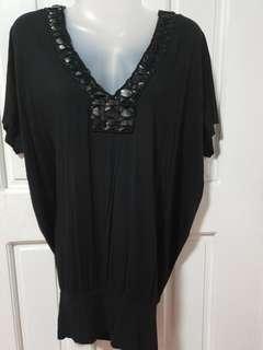 Big blouse, black