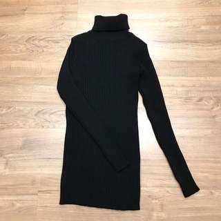 正韓黑色高領內搭衣 高領針織上衣 舒服好穿