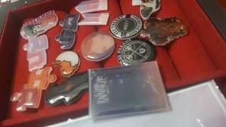 CUSTOM PINS (brooch not metal or enamel)