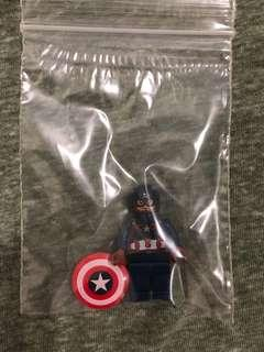 LEGO Super Heroes Captain America Minifigure From 76051 (New)