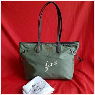✔Prada Green Tessuto Shopper Tote Bag