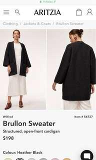 Aritzia Brullon Sweater in Heather Black