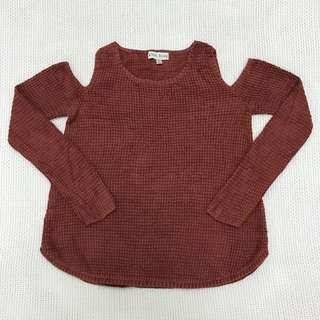 Choc Off Shoulder Knitted Top