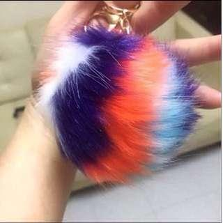Multicolored Pom Pom of Faux Rabbit Fur (size:  approx: 10cm) [makes a nice bag dangle, & as a gift; uncle.anthony]  FOR MORE PICS & DETAILS, 👉 http://sg.carousell.com/p/178596986