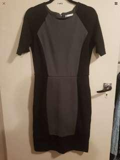 Target size 12 grey and black work business pencil dress