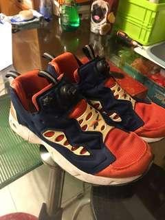 Reebok fury (size 9)正常著用 絕版橙色 $150