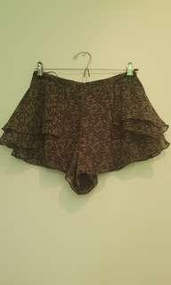 TOPSHOP grey patterned shorts