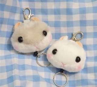 倉鼠伸縮鎖匙扣 hamster extendable key ring