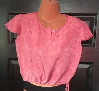 ❤️ 29  Pre loved Pink Croptop