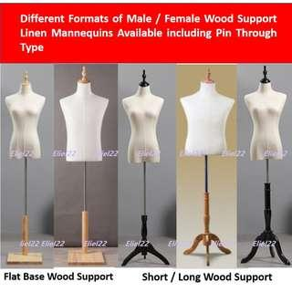 Free Delivery / Ready Stocks - Male Female Kids Linen Torso Mannequins