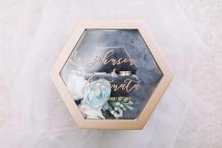 Hexagon Ring Box Wedding