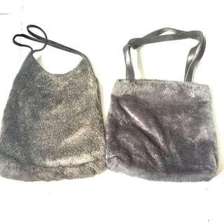 CLEARANCE SALE: Vintage Fur Bags