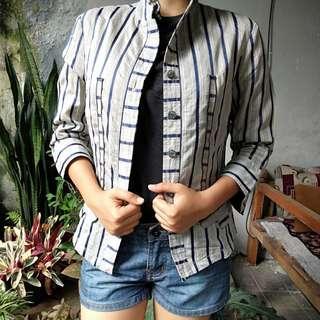 Stripes semi blazer