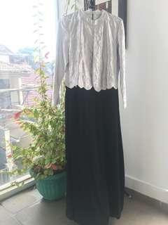 Long Black Silver Dress - PRELOVED FREE ONGKIR JABODETABEK