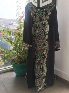 Black Long Dress - Preloved FREE ONGKIR JABODETABEK