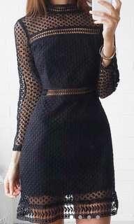 ROSEBULLET LACE LONGSLEEVE DRESS