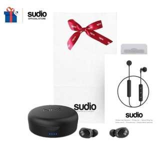 Sudio Wireless earbuds and earpiece