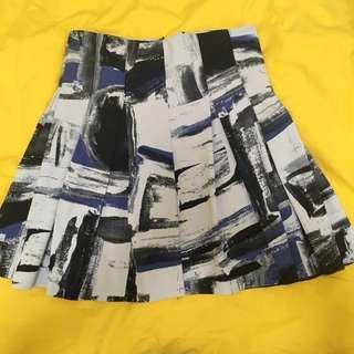 Skirt (blue/white/black), made in Korea