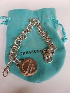 Tiffany 手鍊-Return to Tiffany-圓形吊飾手鍊(保證原廠正品-新品定價12,000-附購買證明)