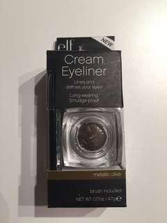 E.L.F. metallic olive cream eyeliner w/brush