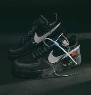 Nike X Off-White Air Force 1 Low in Black & White