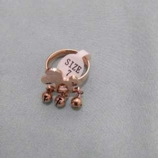 Non tarnish rose gold ring size 7