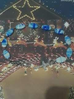 Cross Bracelet-Blue