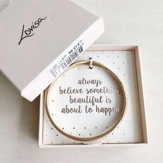 Lovisa Festivel Believe Quote Bangle